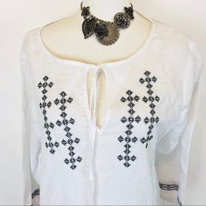 Apt.9 white embroidered cover up